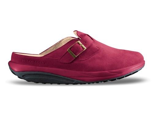 Comfort kožne papuče crvene Walkmaxx