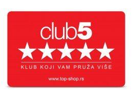 Top Shop Klub 5* kartica za popuste