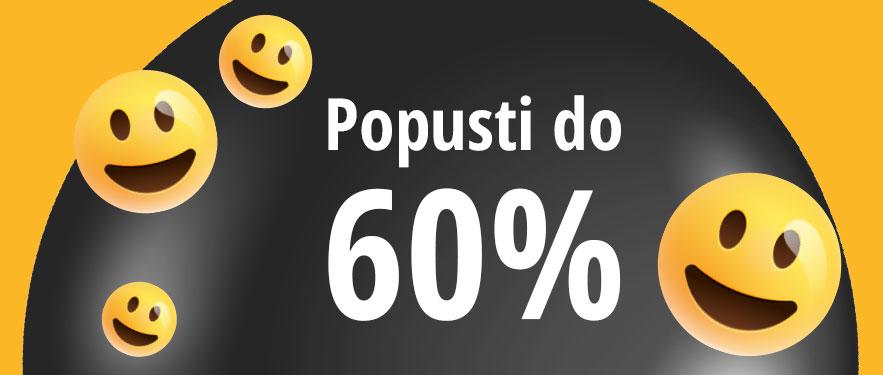 Srećni dani uz popuste do 60%